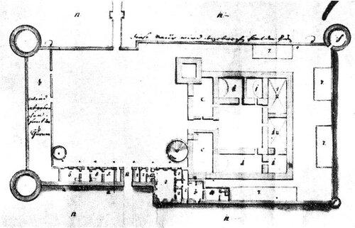 План замка 1766 г.