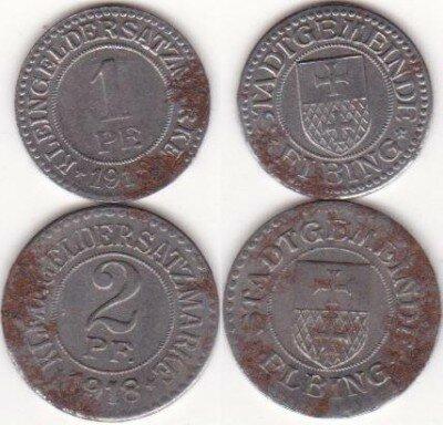 Эльбингские пфенниги 1918 года