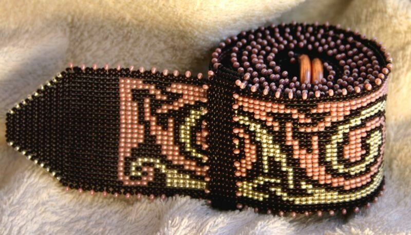 схема пояса из бисера с узором змеи - Сделай сам!