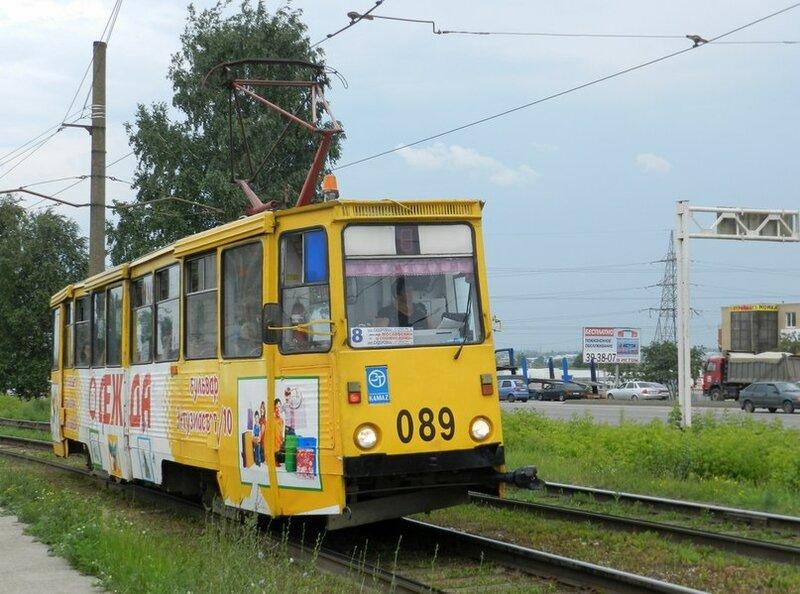 Набережные Челны, трамвайный вагон 089.