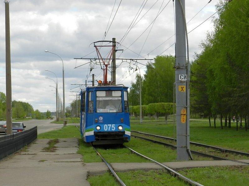 Набережные Челны, трамвайный вагон 075.