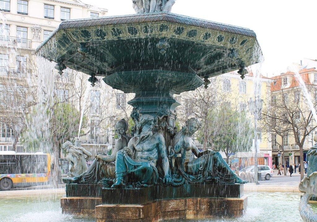 Лиссабон. Площадь Дона Педро четвертого.Praça Dom Pedro IV, Lisboa