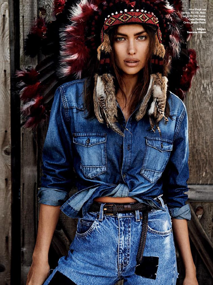 Ирина Шейк в журнале Vogue Brazil