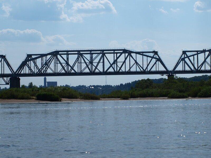 Железнодорожный мост в Котельниче через Вятку