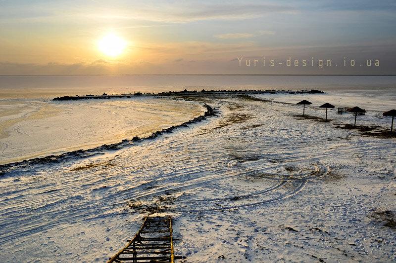 зима в бердянске 2012, зимние пейзажи в бердянске