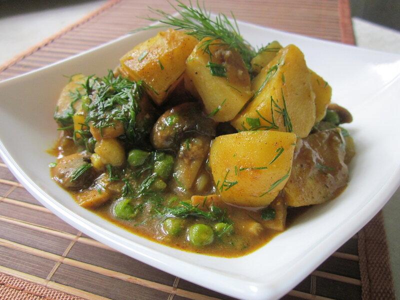 картошка с грибами фото рецепт