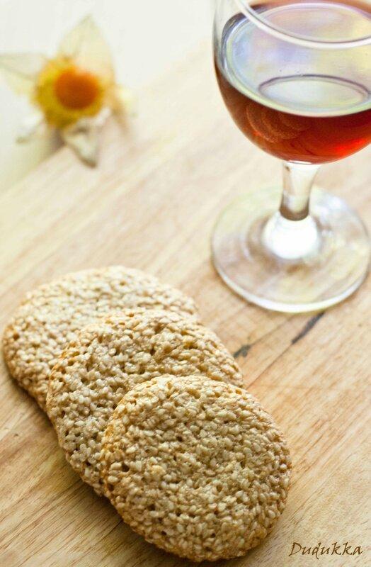 рецепт кунжутное печенье без муки