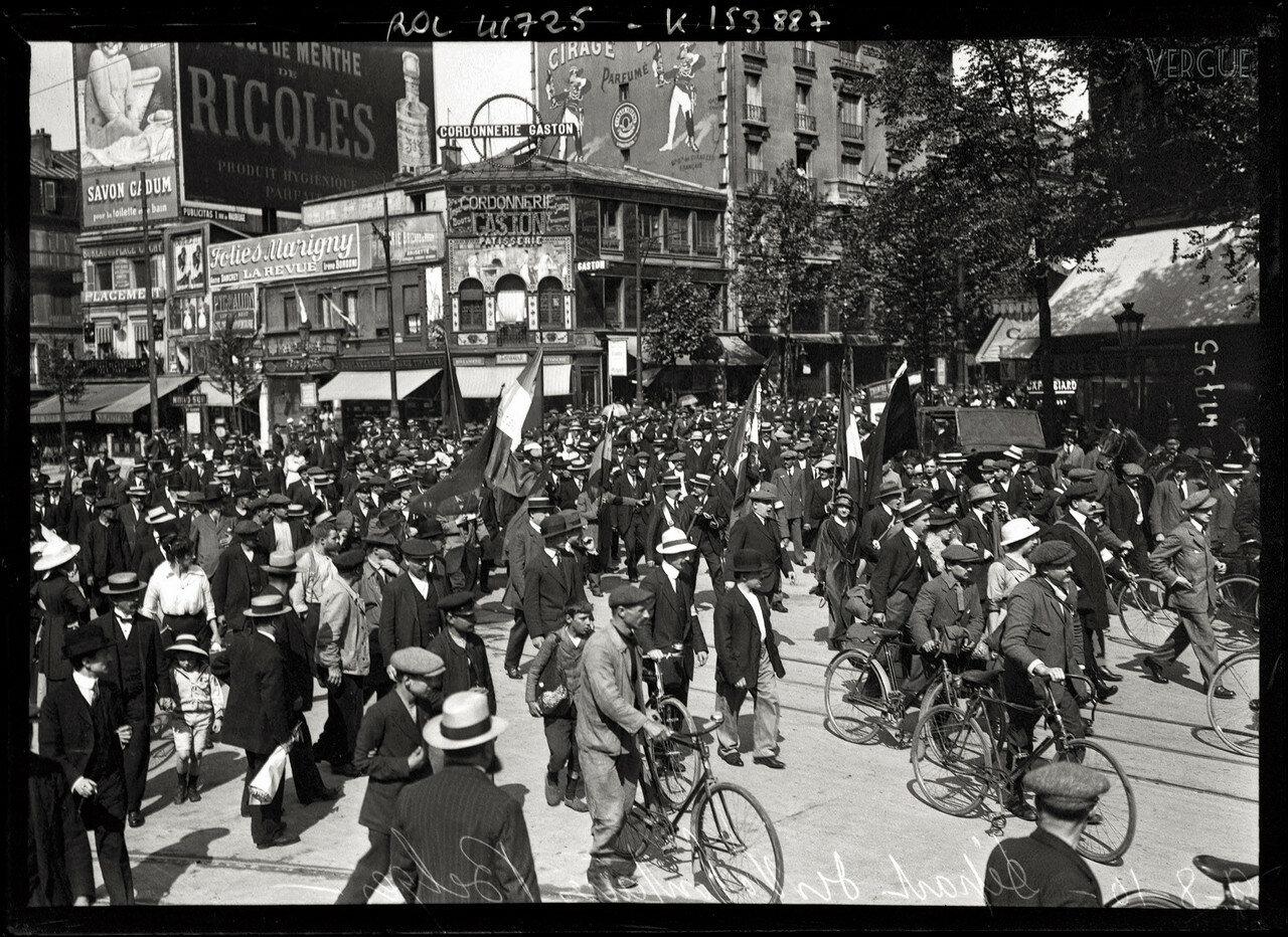 1914. Шествие бельгийских добровольцев