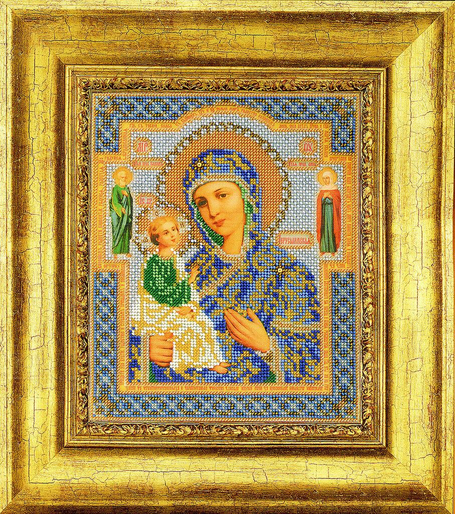 Икона богородица покрова вышивка бисером 248