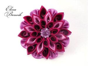 Прекрасные цветы канзаши 0_9bc7d_a717a88_M
