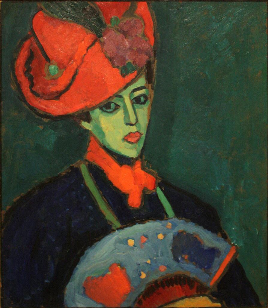 Шокко в красной шляпе, 1909, Явленский Алексей Георгиевич  (1864-1941)