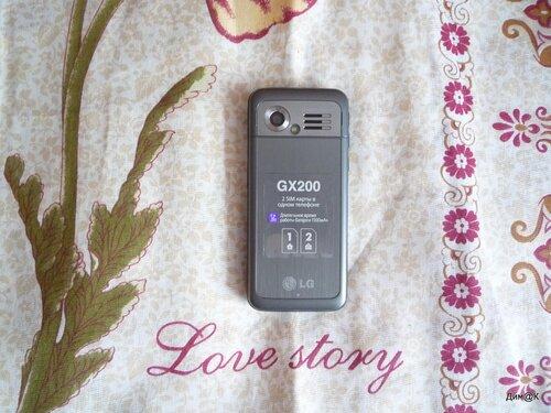 LG GX-200 (вид сзади)