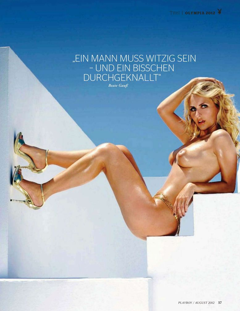 Участница Олимпиады, немецкая спортсменка Беате Гаусс (Beate Gauss) в журнале Playboy Germany, август 2012