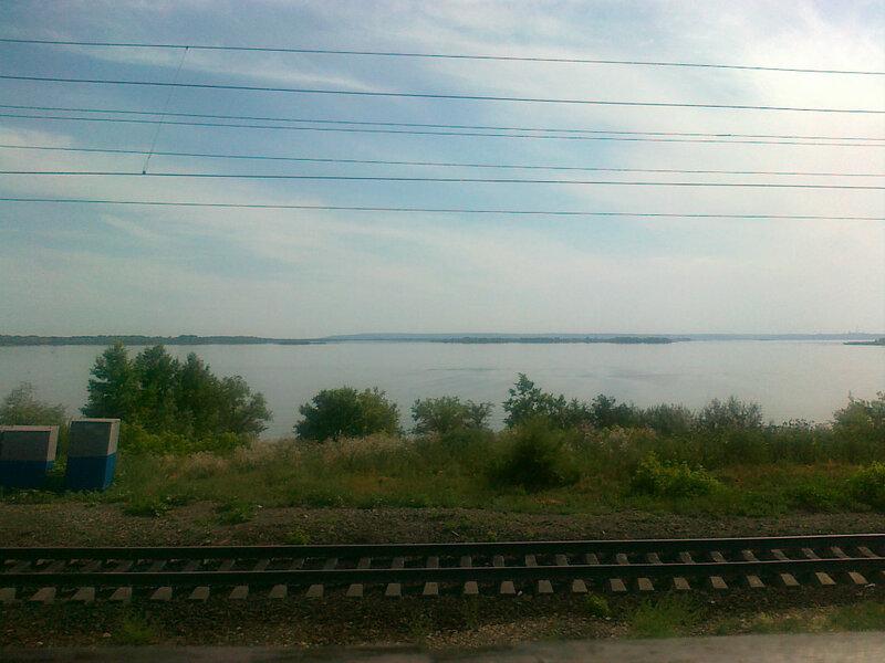 Волга из окна поезда
