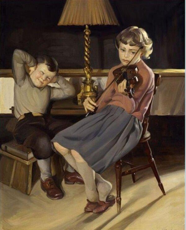 Эрик Эдсберг Кнуд игра на скрипке.jpg