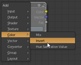 node color invert