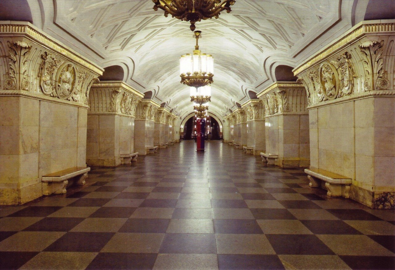 московский метрополитен в открытках при советской власти