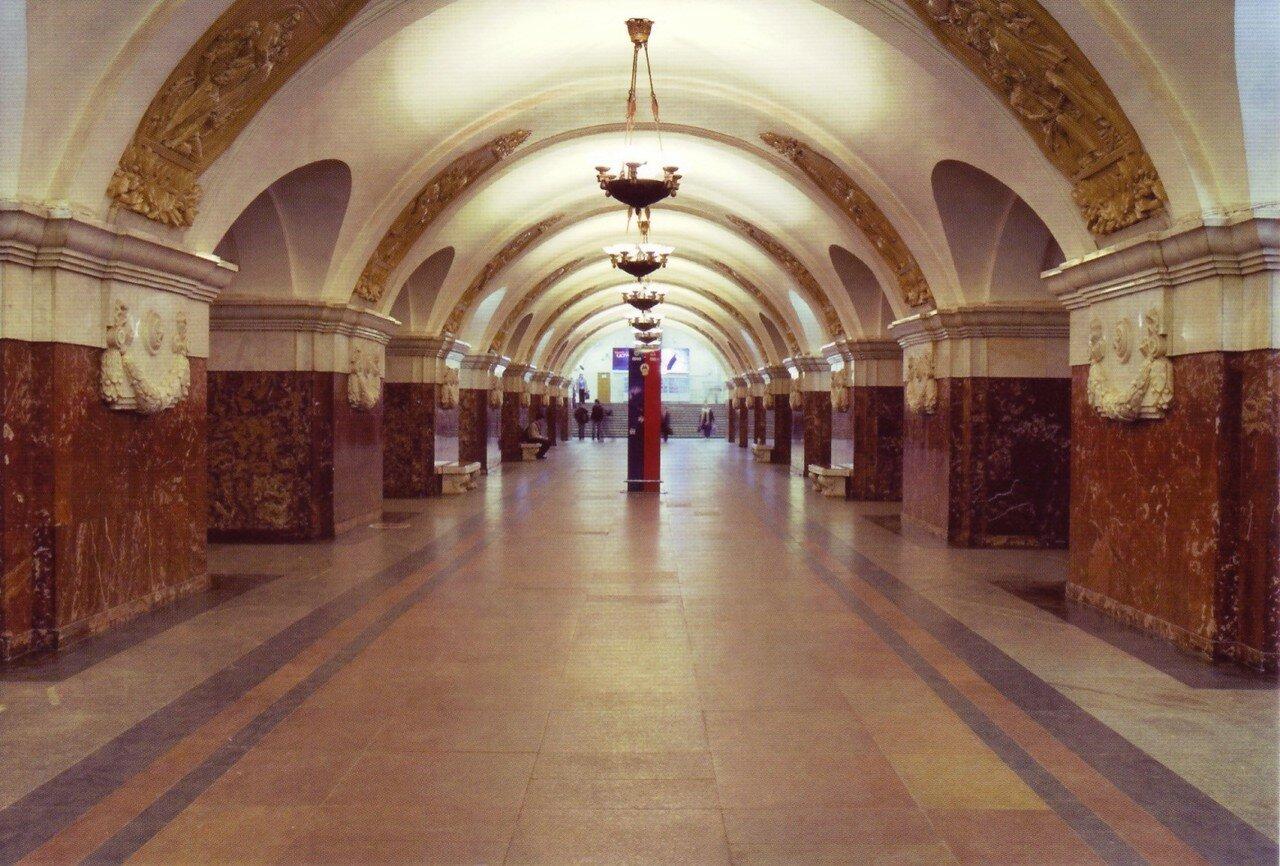 Буду, московское метро в открытках