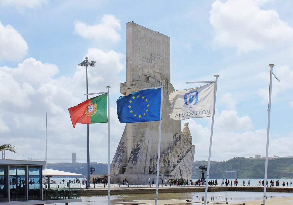 Lisbon. Monument of Discovery, monument to the Discoverers (Monumento aos Descobrimentos)