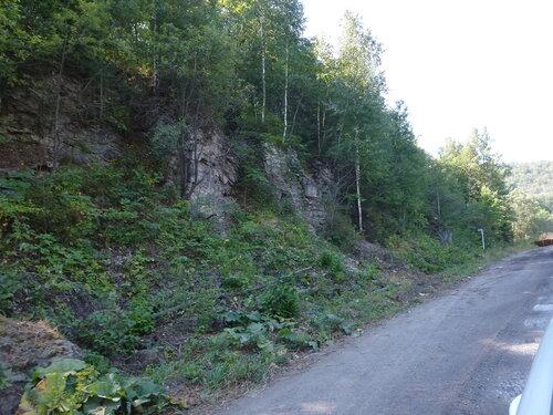Уральские горы подходят к дороге