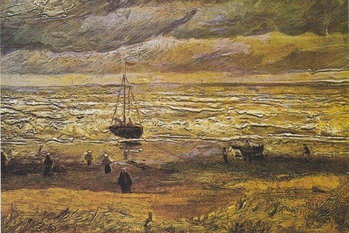 Винсент Ван Гог, *Вид моря в Шевенингене*