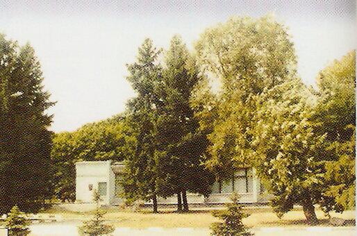 Здание выставочного зала в парке Победы, снесено в начале 2000-х.