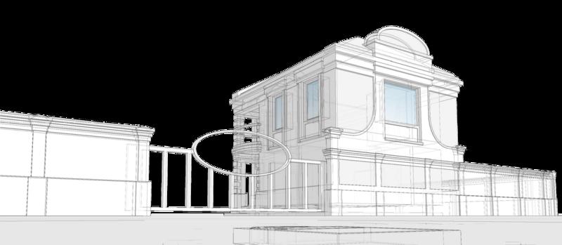 Баня с комнатой отдыха и спальными помещениями на втором этаже