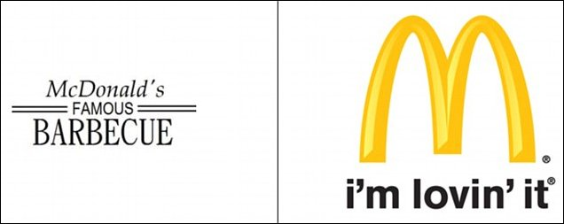 Эволюция логотипов известных брендов