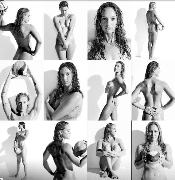 Женская команда по водному поло решила подзаработать голышом