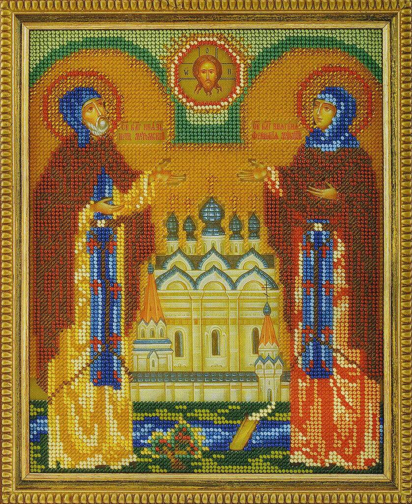 Икона богородица покрова вышивка бисером 53