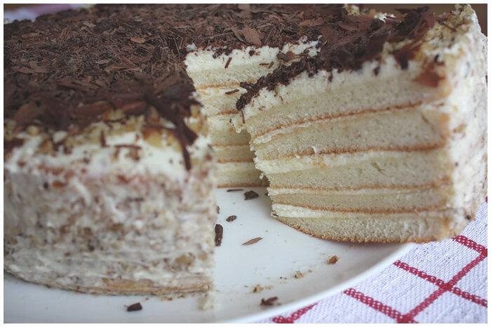 торт на кефире фото рецепт