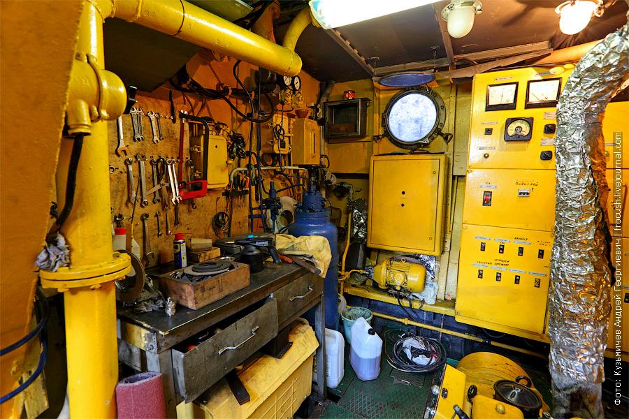 фото машинного отделения банкетный теплоход «Берегиня», тип «ОМ»
