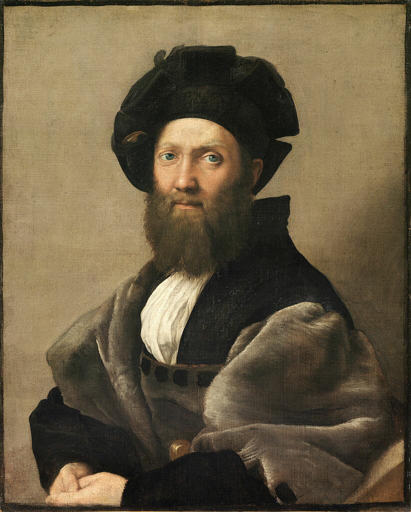 Портрет Бальдассаре Кастильоне,_ ок. 1515, _Рафаэль Санти (1483-1520), Лувр, Франция.