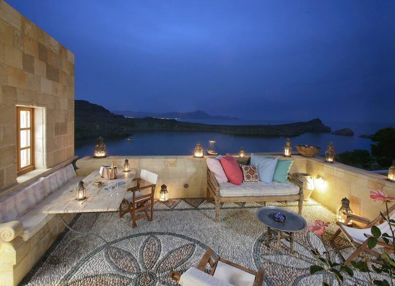 Колоритный и самобытный отель Melenos Lindos на острове Родос. Греция