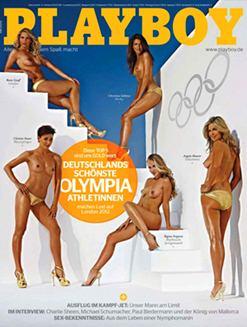 Олимпийские спортсменки на обложке журнала Playboy Germany, август 2012
