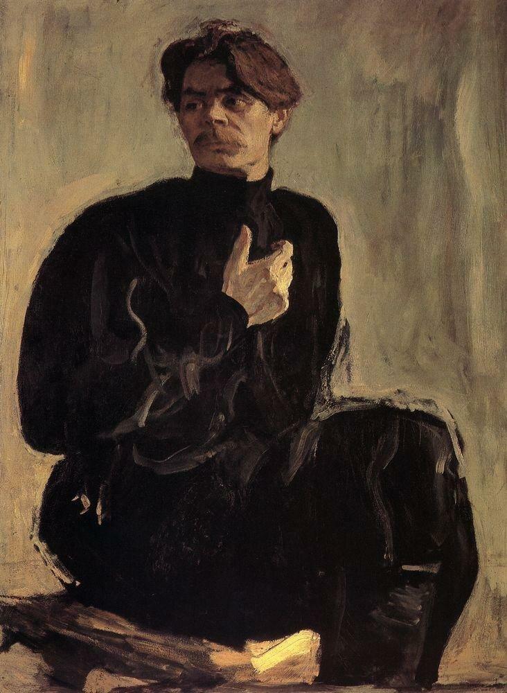 Портрет писателя А.М.Горького. 1905.jpg