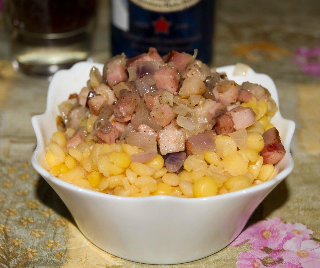 Горох со шкварками. Литовская кухня