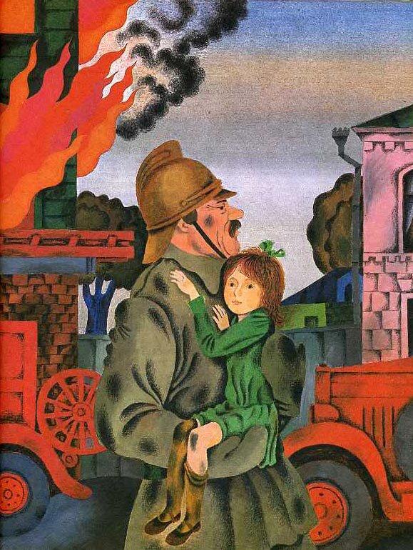 Сказочные персонажи на пожаре картинки