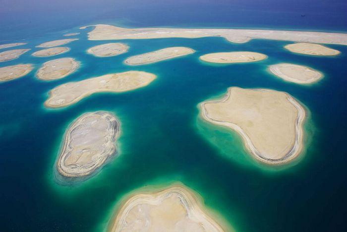 Как делают Пальмовые Острова в Дубаи (13 фото).  Кха!  Пальмовые Острова представляют собой искусственный архипелаг в...