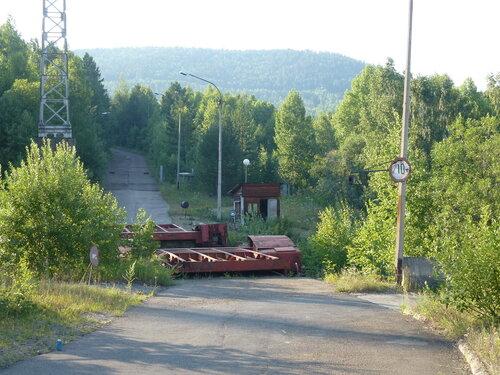 Переезд через пути судоподъемника Красноярской ГЭС