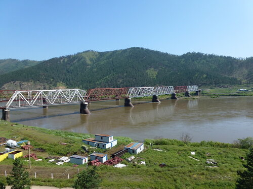 Мост через Селенгу у Улан-Удэ в Бурятии