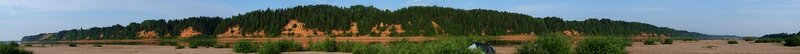 Панорама коренного берега реки Вятки и Сокольей горы