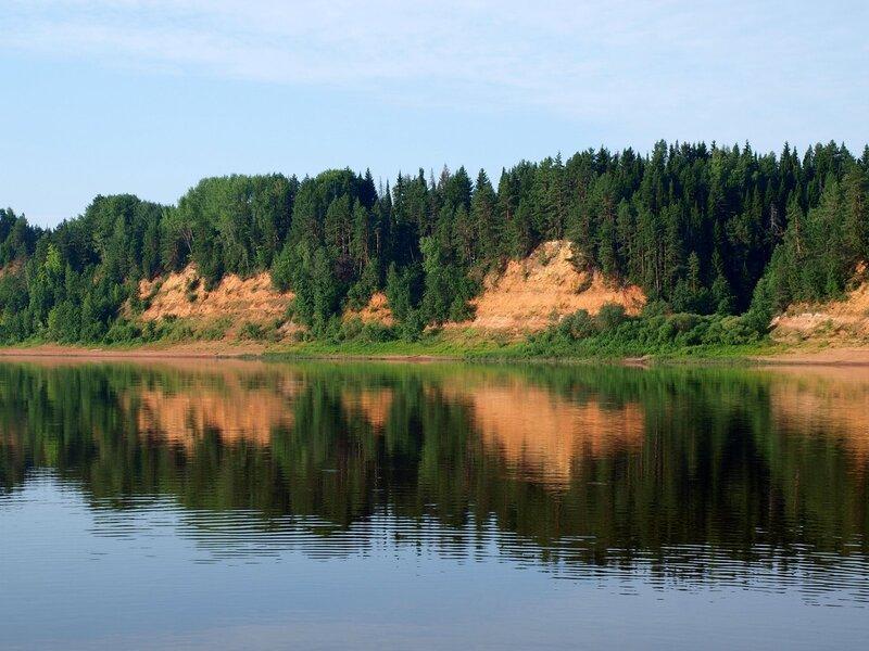 высокий берег реки Вятки