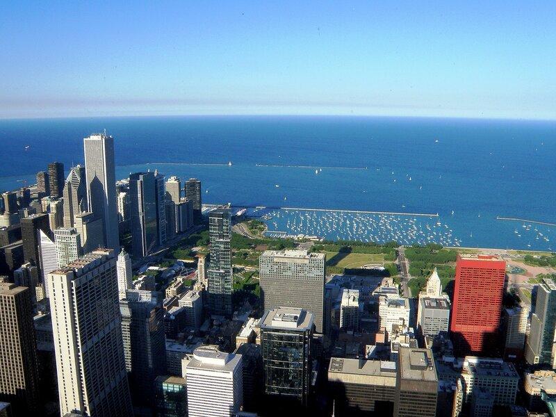 Чикаго с высоты птичьего полета