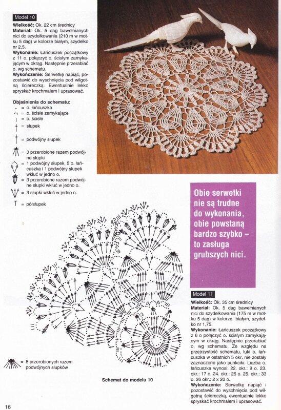 Журналы салфетки крючком схемы