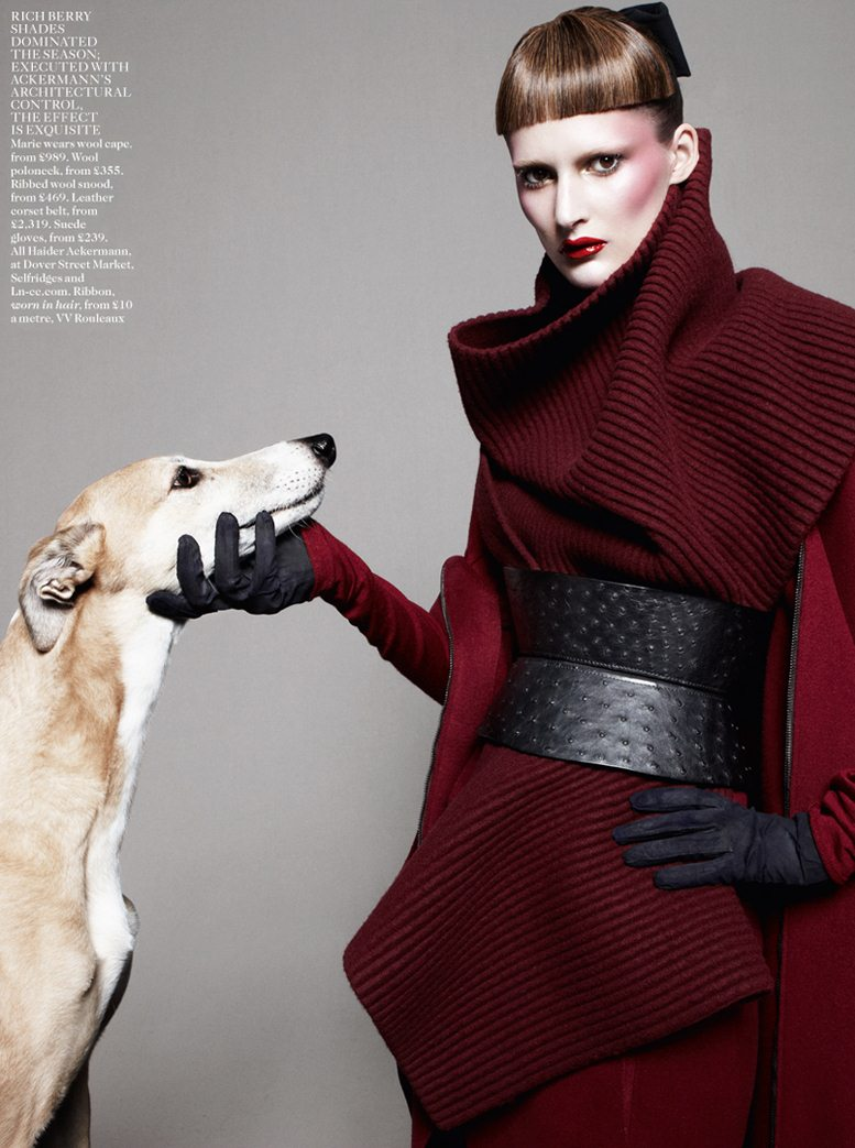 Best In Show - Marie Piovesan / Мари Пьовесан, фотограф Daniel Jackson в журнале Vogue UK, август 2012