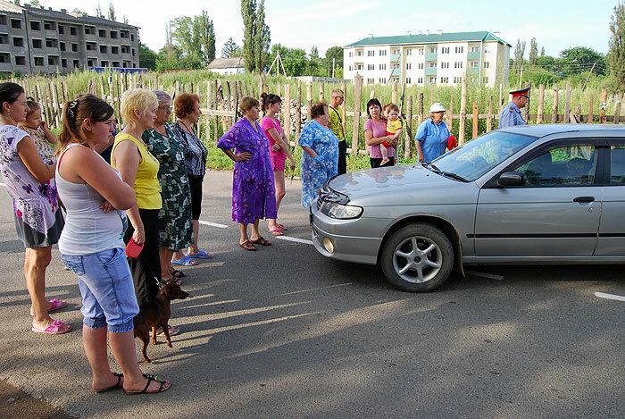 Перекрытие улицы в Партизанске