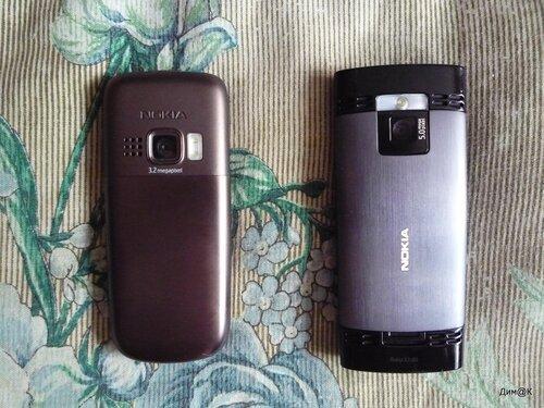 Задние металлические крышки и фотокамеры - Nokia 6303i и X2
