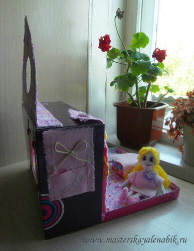 Сделать своими руками кукольный домик. Мастер-класс