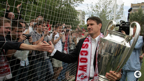 Дмитрий Аленичев с Кубком Лиги чемпионов